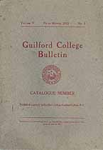 Thumbnail image of Guilford College 1912 Bulletin cover