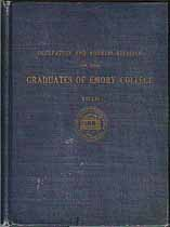 Thumbnail image of Emory College 1910 Graduate Register cover