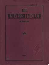 Thumbnail image of Hartford University Club 1914 Roster cover