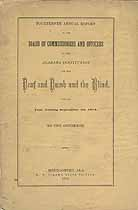 Thumbnail image of Alabama Deaf, Dumb and Blind Institution 1875 Report cover