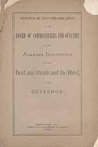 Thumbnail image of Alabama Deaf, Dumb and Blind Institution 1886 Report cover