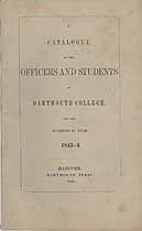 Thumbnail image of Dartmouth College 1843-4 Catalogue cover