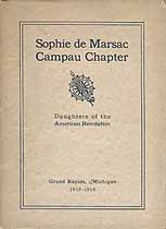 Thumbnail image of Sophie de Marsac Campau Putnam DAR Chapter 1915-1916 Year Book cover
