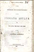 Thumbnail image of Indiana Deaf and Dumb Asylum 1851 Report cover