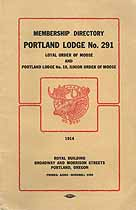 Thumbnail image of Portland Lodge 291 Order of Moose 1914 Directory cover