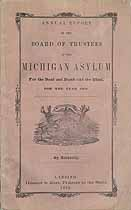 Thumbnail image of Michigan Asylum 1858 Report cover