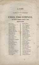 Thumbnail image of Union Fire Company 1825 Roster cover