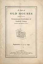 Thumbnail image of Guilford Conn. 1939 List of Old Houses cover