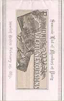 Thumbnail image of Raymond's 1887 Vacation Excursion to Washington, D. C. cover