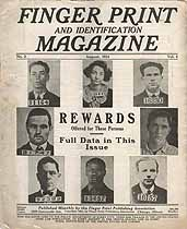 Thumbnail image of Finger Print and Identification Magazine, 1924, August Issue cover