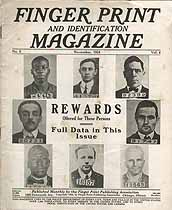 Thumbnail image of Finger Print and Identification Magazine, 1924, November Issue cover