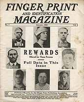 Thumbnail image of Finger Print and Identification Magazine, 1925, January Issue cover