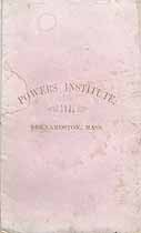 Thumbnail image of Powers Institute 1861 Catalogue cover