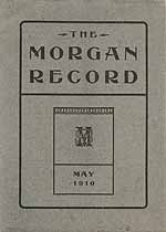 Thumbnail image of The Morgan Record, 1910, May cover