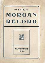 Thumbnail image of The Morgan Record, 1910, November cover