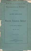 Thumbnail image of Princeton Theological Seminary 1900 Necrology cover