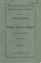 Thumbnail image of Princeton Theological Seminary 1904 Necrology cover
