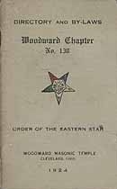 Thumbnail image of Woodward Chapter, No. 138, OES 1924 By-Laws cover