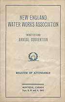 Thumbnail image of New England Water Works Association 1903 Convention Attendees cover