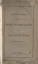 Thumbnail image of Providence First Baptist Church 1844 Members cover