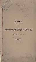 Thumbnail image of Stewart Street Baptist Church 1897 Members cover