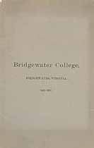 Thumbnail image of Bridgewater College 1896-97 Catalogue cover
