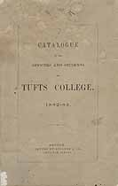 Thumbnail image of Tufts College 1882-83 Catalogue cover