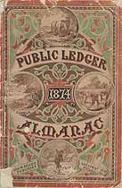 Thumbnail image of Public Ledger Almanac 1874 cover