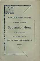 Thumbnail image of Massachusetts Soldiers' Home 1890 Report cover