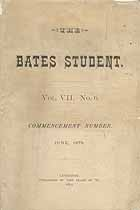 Thumbnail image of The Bates Student 1879, June cover