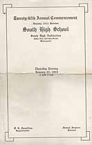 Thumbnail image of Minneapolis South High School 1915 January Commencement cover