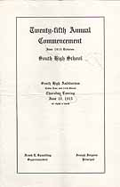 Thumbnail image of Minneapolis South High School 1915 June Commencement cover