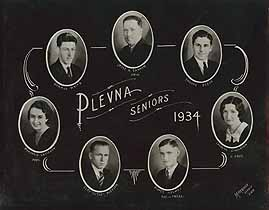 Thumbnail image of Plevna High School 1934 Composite Photo cover