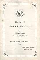 Thumbnail image of Passaic Senior High School 1958 Commencement cover