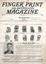 Thumbnail image of Finger Print and Identification Magazine, 1924, May Issue cover