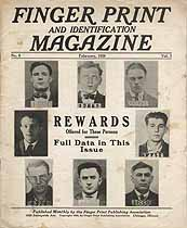 Thumbnail image of Finger Print and Identification Magazine, 1926, February Issue cover