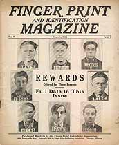 Thumbnail image of Finger Print and Identification Magazine, 1926, March Issue cover