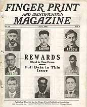 Thumbnail image of Finger Print and Identification Magazine, 1928, June Issue cover