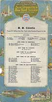 Thumbnail image of SS Columbia 1922 Souvenir Passenger List (NY to San Francisco) cover