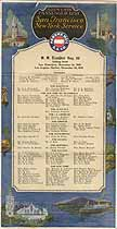 Thumbnail image of SS Ecuador 1928 Souvenir Passenger List (San Francisco to NY) cover
