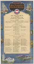 Thumbnail image of SS Venezuela 1929 Souvenir Passenger List (San Francisco to NY) cover