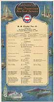 Thumbnail image of SS Ecuador 1930 Souvenir Passenger List (San Francisco to NY) cover