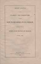 Thumbnail image of New Hampshire State Prison 1881 Report cover