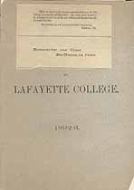 Thumbnail image of Lafayette College 1892-3 Catalogue cover
