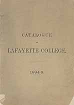 Thumbnail image of Lafayette College 1894-5 Catalogue cover