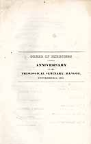Thumbnail image of Bangor Theological Seminary 1835 Anniversary Program cover