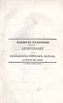 Thumbnail image of Bangor Theological Seminary 1836 Anniversary Program cover