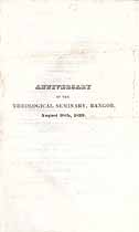 Thumbnail image of Bangor Theological Seminary 1839 Anniversary Program cover