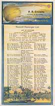 Thumbnail image of SS Columbia 1919 Souvenir Passenger List (San Francisco to Manila) cover