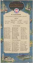 Thumbnail image of SS Ecuador 1926 Souvenir Passenger List (NY to San Francisco) cover